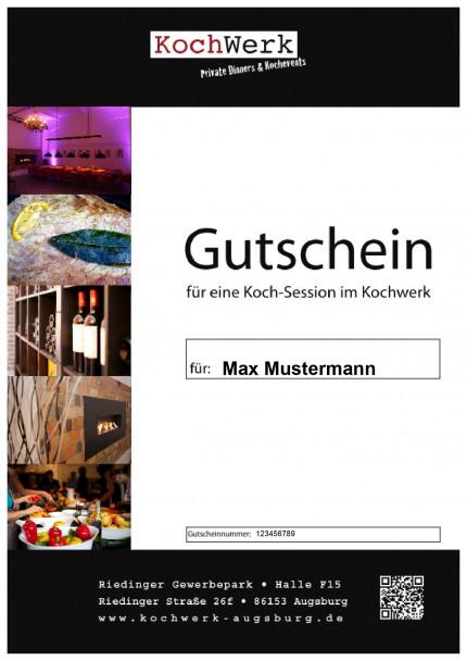 Das Kochwerk Augsburg bietet Geschenk Gutscheine für Kochkurse an